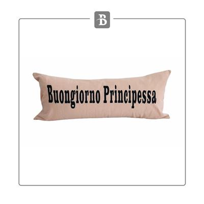 ALMOHADON TUSOR BONGIORNO PRINCIPESSA 75X35 ROSA