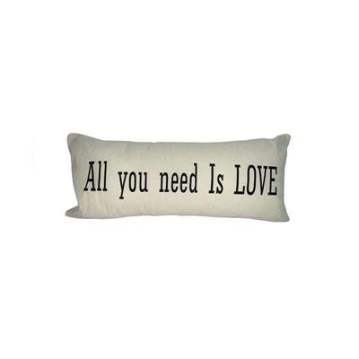 ALMOHADON ALL YOU NEED IS LOVE 75X35 CRUDO