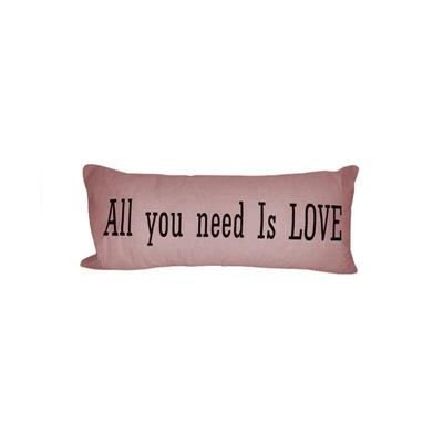 ALMOHADON ALL YOU NEED IS LOVE 75X35 ROSA