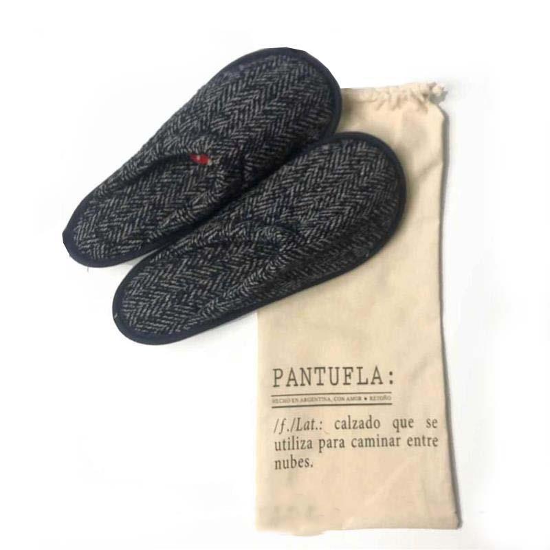 PANTUFLAS PAÑO AZUL XL