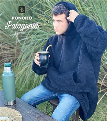 PONCHO PATAGONIA ADULTO NEGRO